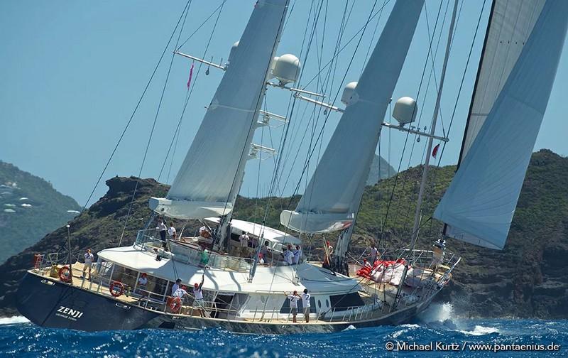 St.Barths Bucket Regatta yachts in action