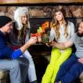 Stein Eriksen Lodge Deer Valley-bloody mary with friends
