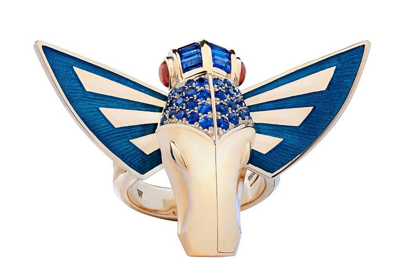 Stephen Webster Jitterbug JITTERBUG HORSE FLY RING Yellow Gold