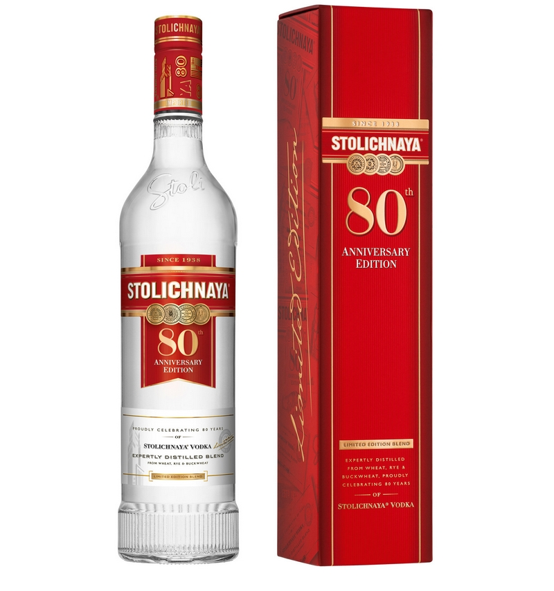 Stoli Vodka announced its limited edition 80th anniversary bottle