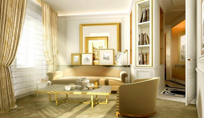 Suite Living Room - Hotel Eden Rome 2017