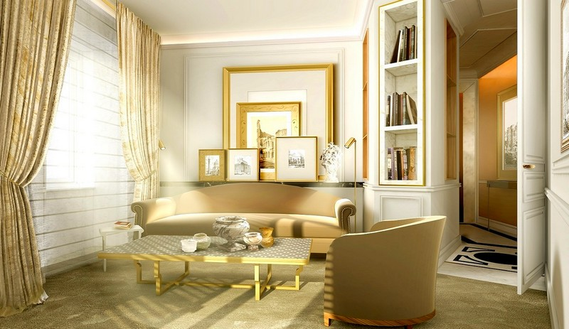 Suite Living Room - Hotel Eden Rome 2017