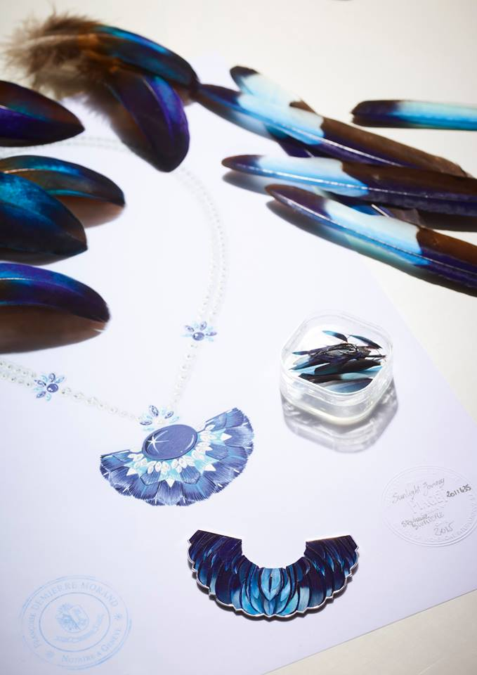 Sunlight journey, a Piaget high jewellery collection-art of the feather