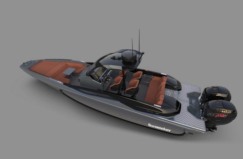 Sunseeker Hawk 38 renderings