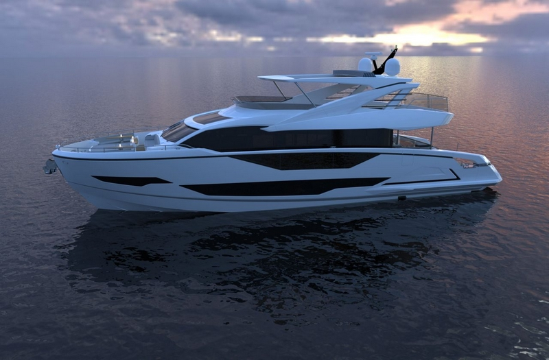 Sunseeker unveiled details on new Project 8X