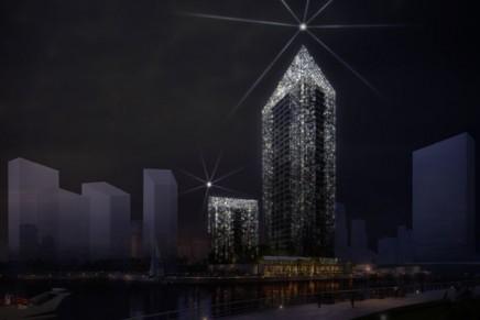 Sparkle Towers at Dubai Marina, Dubai's first crystal-inspired towers, unveiled