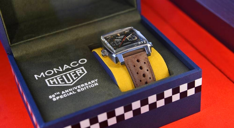 TAG Heuer celebrated 50th anniversary of Monaco watch at Monaco Formula 1 Grand Prix