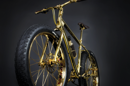 The world's first 24K gold plated extreme mountain bike