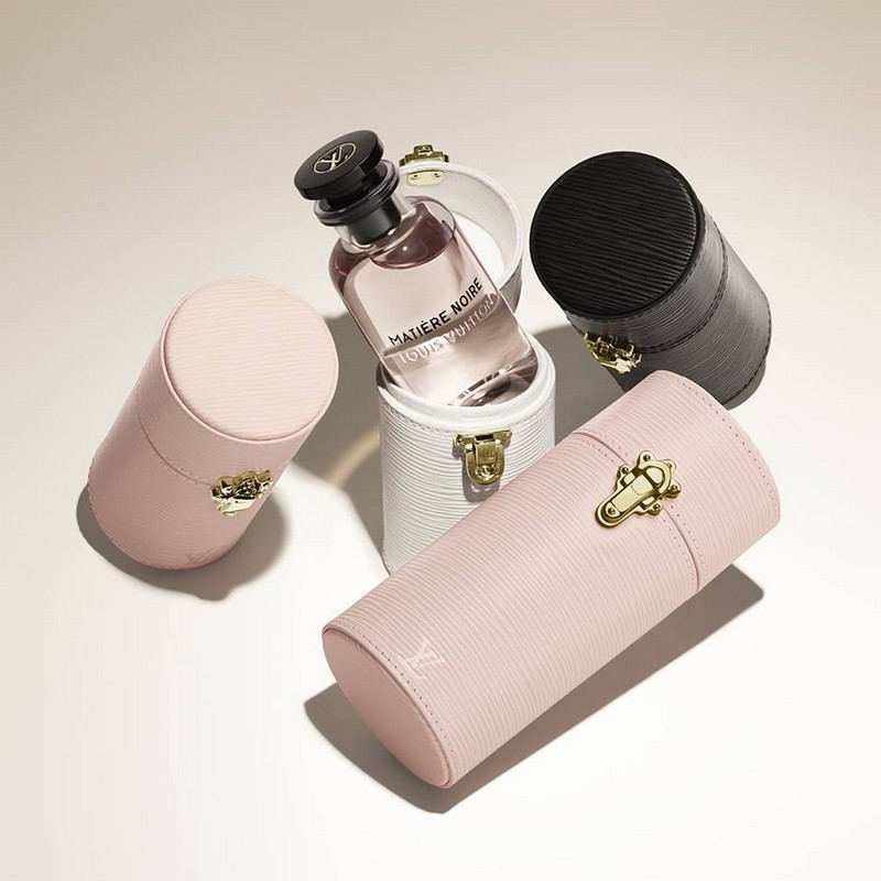 Take your Fragrance everywhere with its tailor Louis Vuitton made travel case