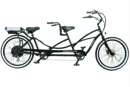 The tandem electric bicycle. You can't pack any more fun into an eco friendly cruising machine