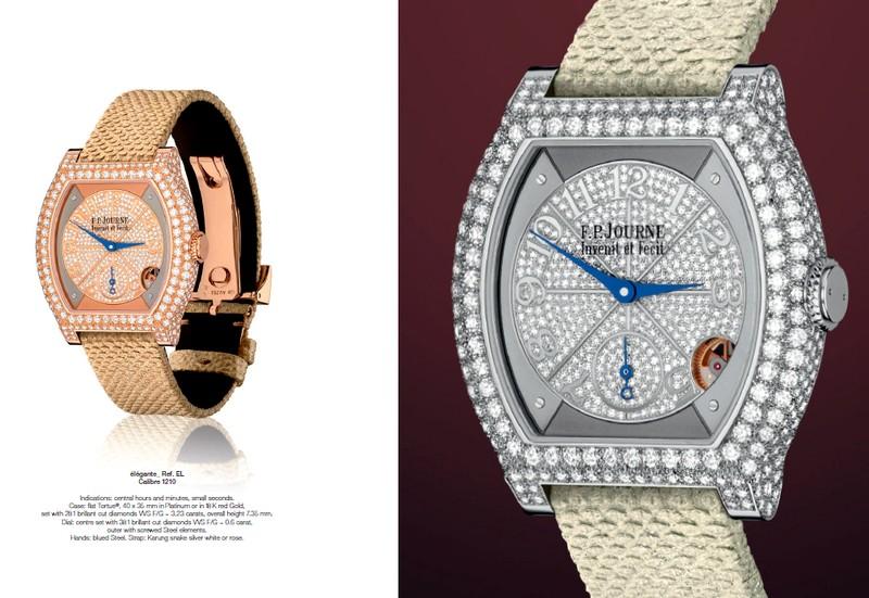 The élégante by F.P.Journe embodies the intelligent watch- Calibre 1210 - jewelry version