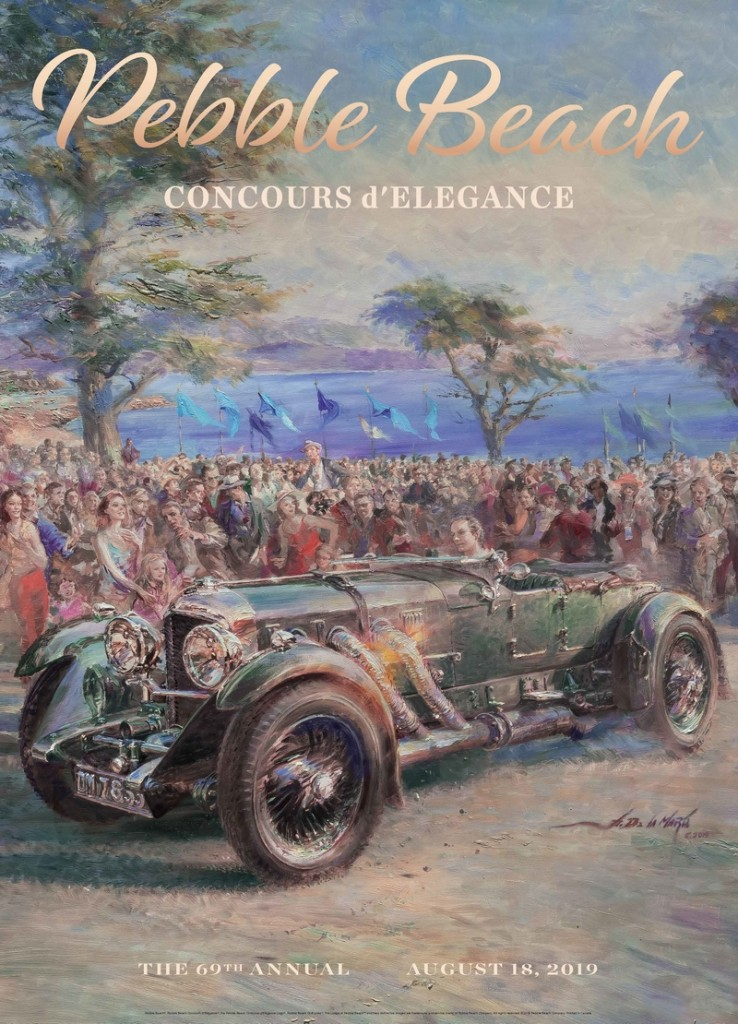 The 2019 Pebble Beach Concours d'Elegance poster