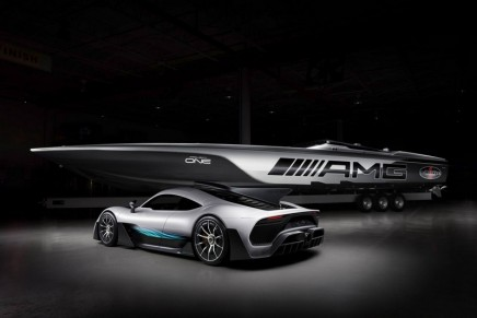 The 515 Project ONE Inspired by Mercedes-AMG is the most innovative performance boat built by Cigarette Racing