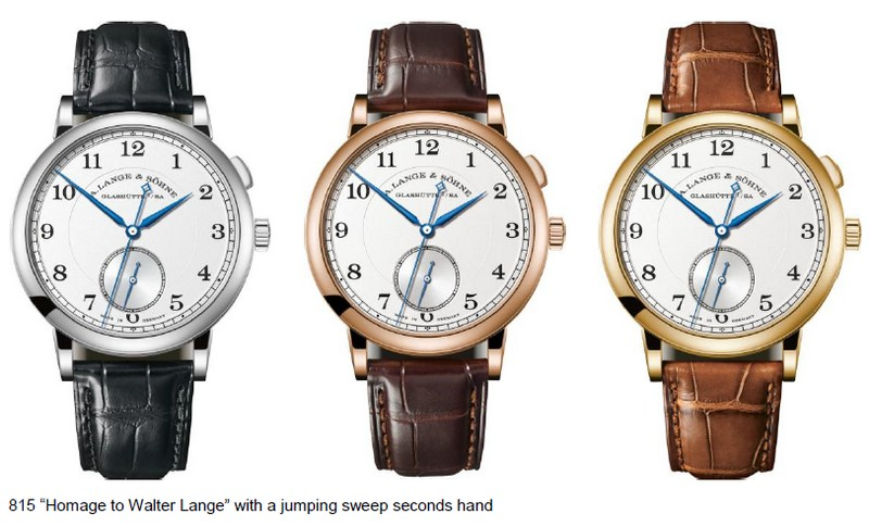 The A. Lange & Söhne 1815 with jumping seconds likely corresponds to what Walter Lange would have deemed the perfect watch