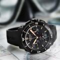 The Alpina Seastrong Diver 300 Black Chronograph Big Date