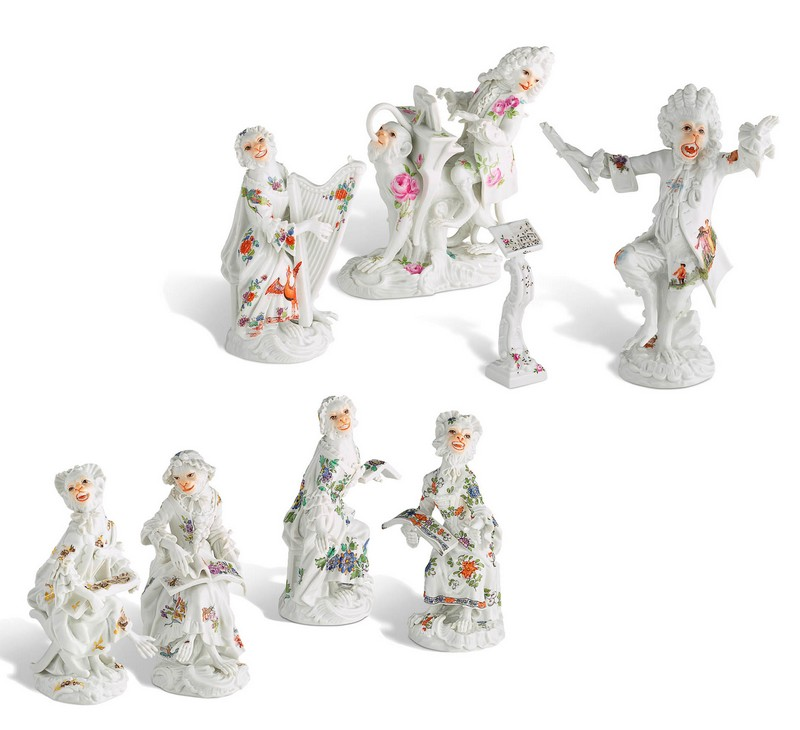 The Asprey edition of the Monkey Orchestra - 21 figurines