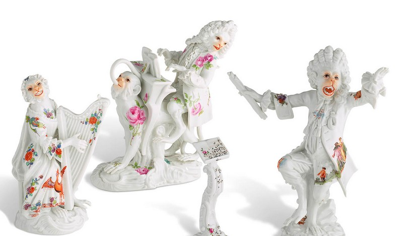 The Asprey edition of the Monkey Orchestra - figurines close up