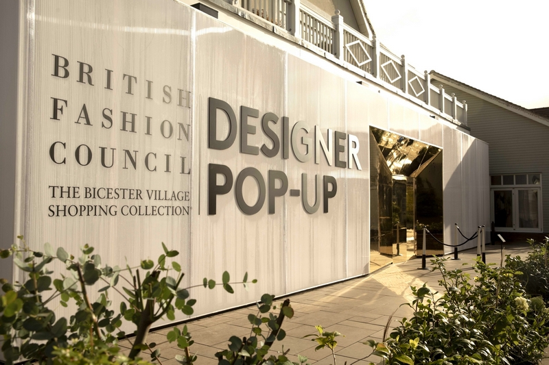 The BFC pop-up at Bicester Village, near London