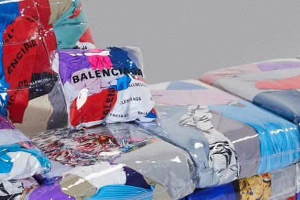 Balenciaga is reinterpreting unworn luxury clothing into furniture concept