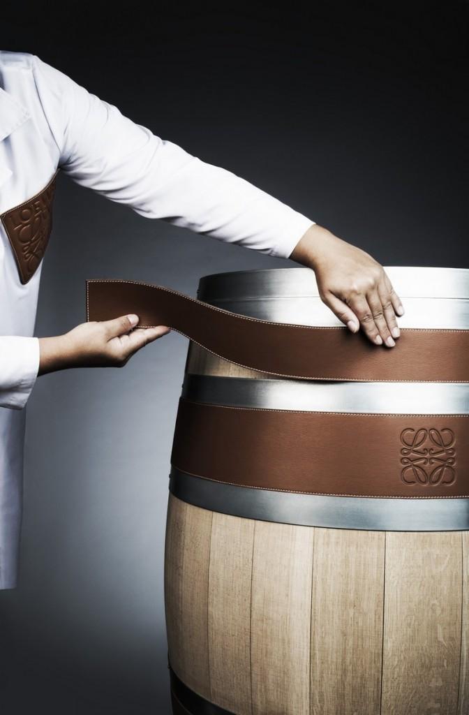 The Bodega Numanthia Barrel covered in Loewe Leather