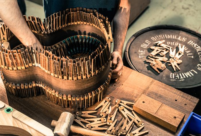 The Bushmills x Lowden Limited Edition Guitar 2017-in the making-