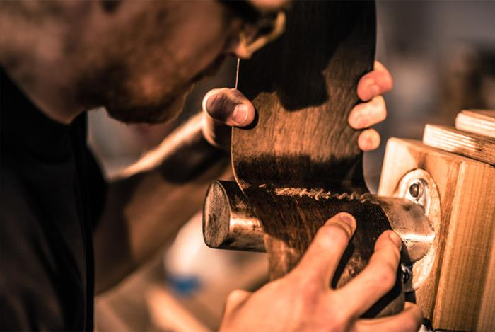 The Bushmills x Lowden Limited Edition Guitar 2017-in the making