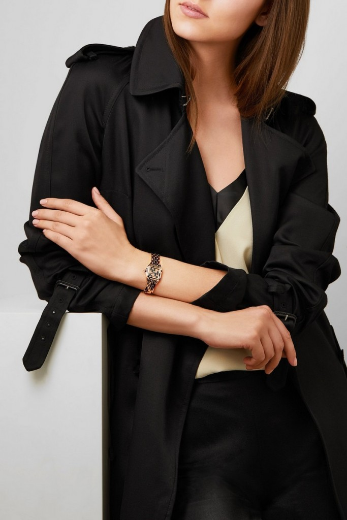 The Cartier Panthère on net-a-porter - Cartier's numbered timepiece is crafted from 18-karat pink gold lacquered in black