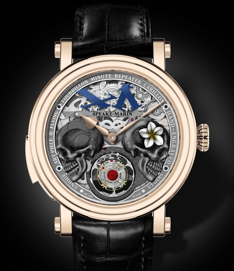 The Crazy Skulls by Speake-Marin with Flying Tourbillon, Minute Repeater Carillon and double dial animation
