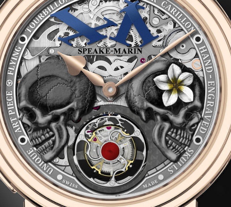 The Crazy Skulls by Speake-Marin with Flying Tourbillon-details