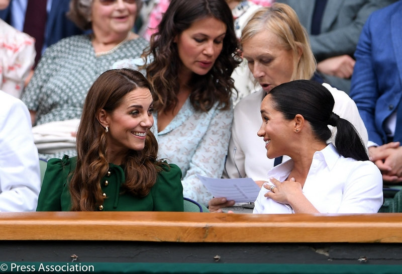 The Duchess of Cambridge and and The Duchess of Sussex attended the Wimbledon Ladies Singles Final 2019