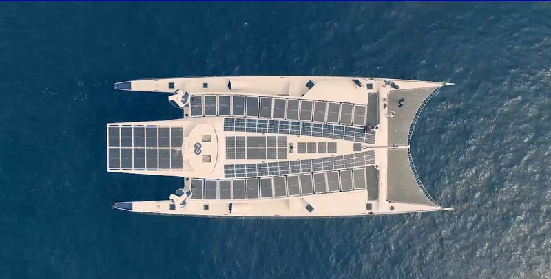The Energy Observer boat-from above