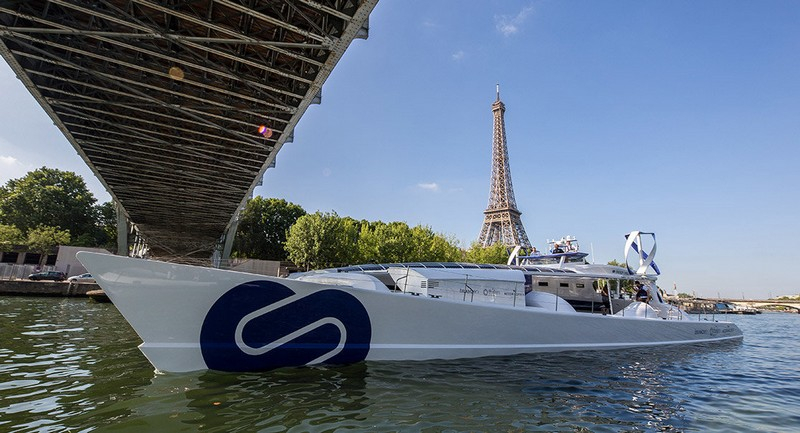 The Energy Observer in Paris in July 2017