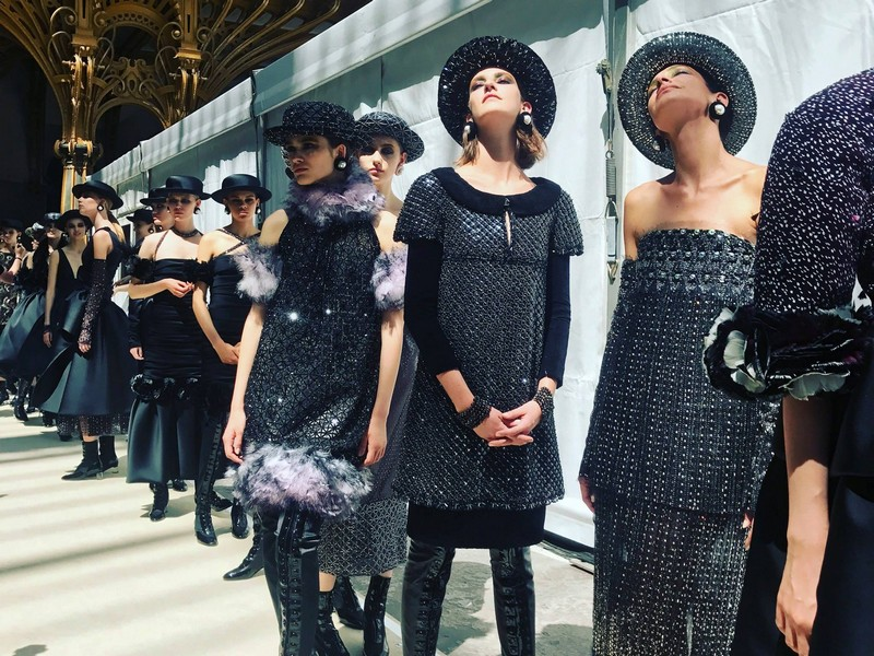 The Fall-Winter 2017 - 2018 Haute Couture show, presented at the Grand Palais in Paris