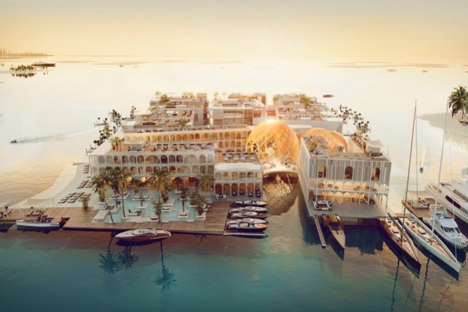 The spectacular Floating Venice will be the world's first five-star floating destination