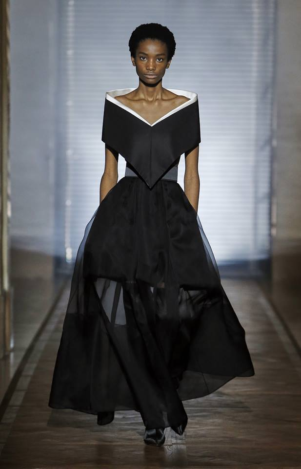 The Givenchy Haute Couture Show by Clare Waight Keller -Look 2 'Melanargia