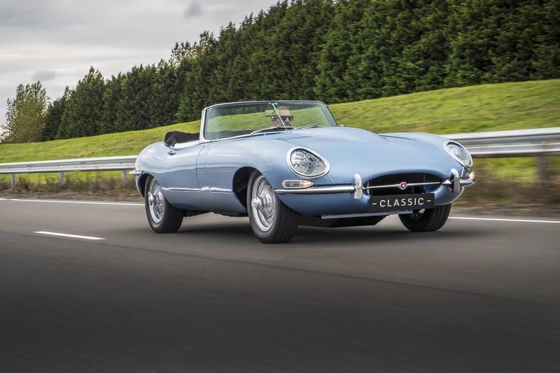 The Jaguar E-type Zero on the road