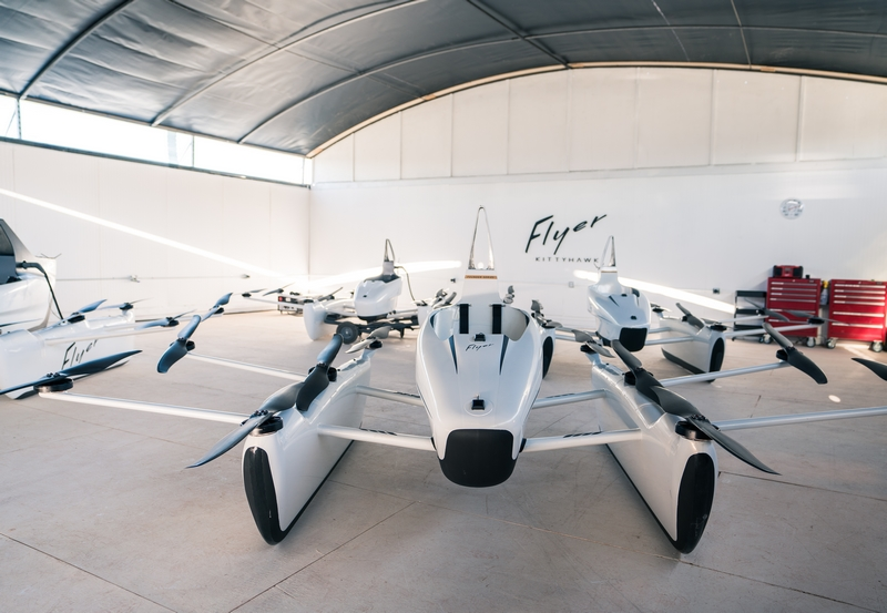 The Kitty Hawk Flyer in hangar