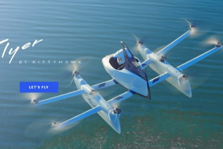 Personal flyers: The Kitty Hawk Flyer, Larry Page's flying car unveiled an updated version