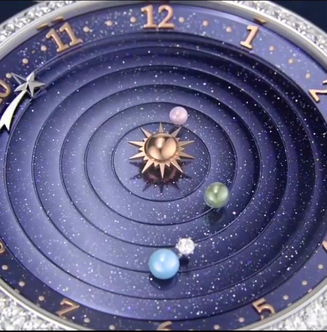 The Lady Arpels Planétarium watch makes the Solar System rotate on your wrist-