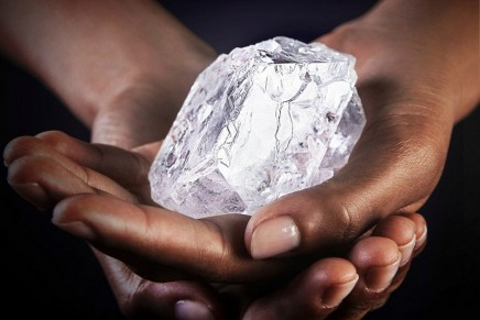 The 1,109-carat Lesedi La Rona, the world's largest rough diamond, bought by Graff for $53 million