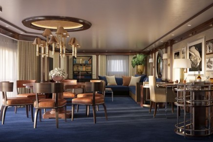 The Only of Its Kind at Sea: Ralph Lauren Home furnishes luxury cruise suites