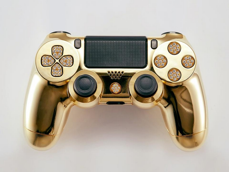 The Lux DualShock 4. Real 24k gold with genuine flawless diamonds-