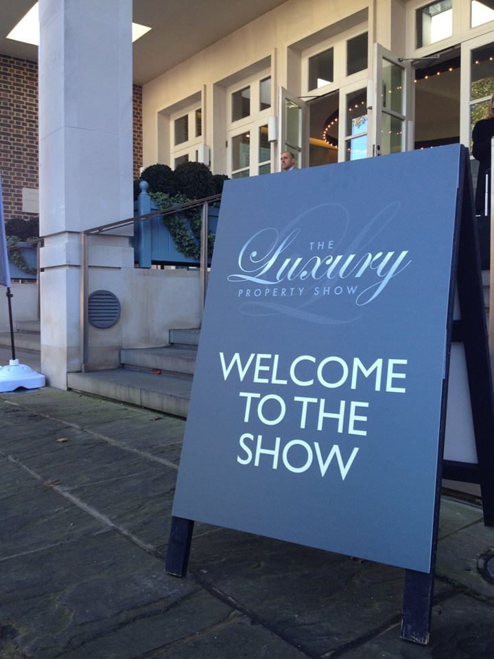 The Luxury Property Show sign