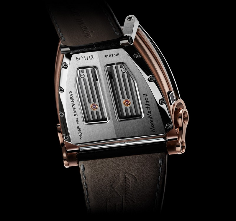 The MB&F x Sarpaneva MoonMachine 2 watch-back