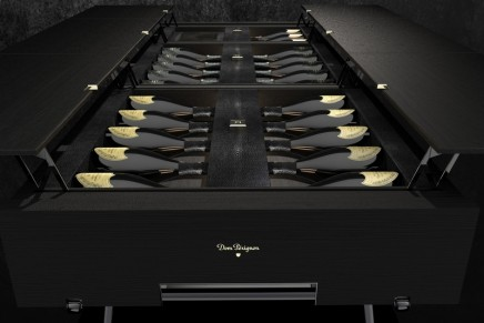La Malle Plénitude by Dom Pérignon. Limited Edition of 5 trunks with 23 hand-selected Plénitude vintages