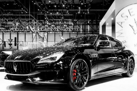 "Maserati in captivating ""total black"" at the 88th Geneva Motor Show"