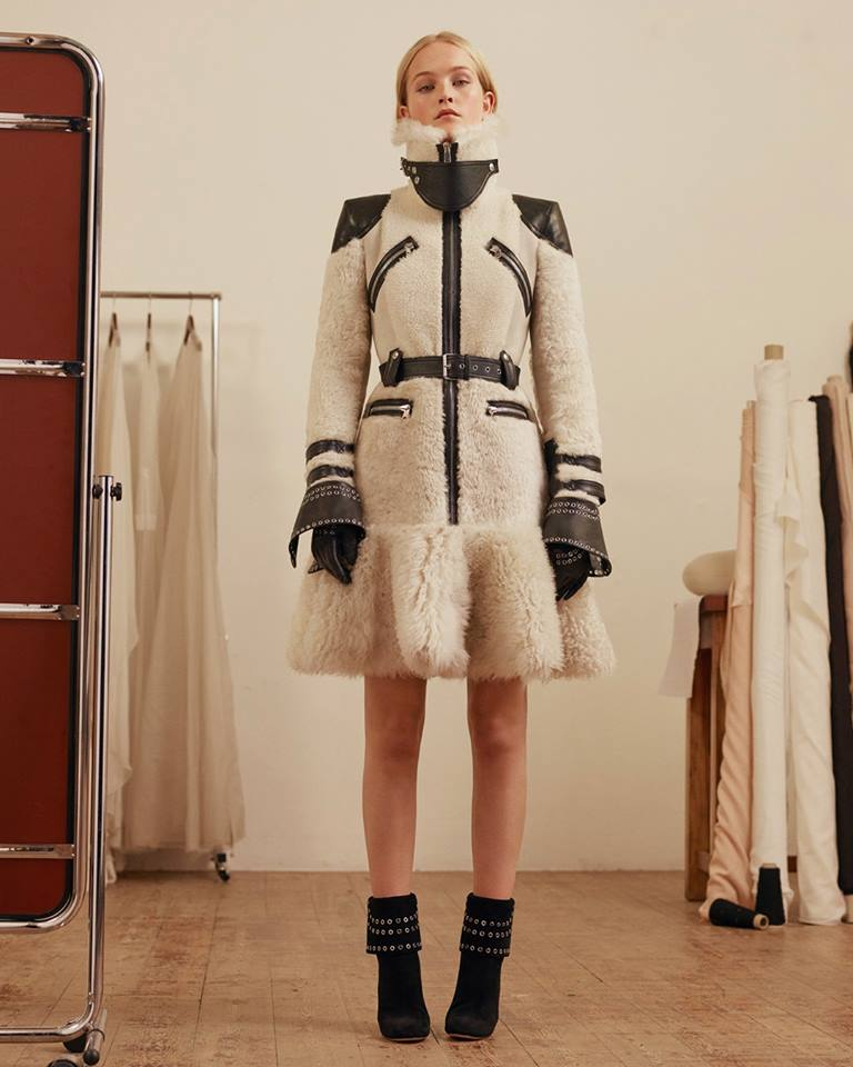 The McQueen shearling biker coat for Pre AW17