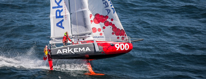 The Mini 6.50 Arkema 3 prototype is considered a floating laboratory for innovations