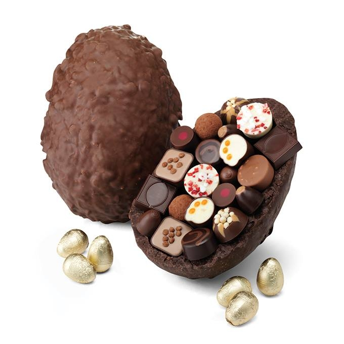 The Ostrich Egg; hotel chocolat's biggest-ever Easter egg