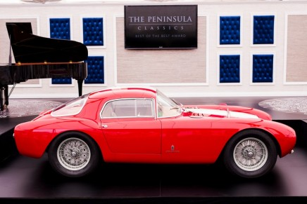 1954 Maserati A6GCS/53 Berlinetta by Pinin Farina named winner of the prestigious The Peninsula Classics Best of the Best Award